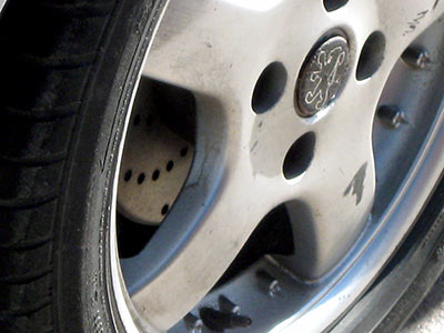 Car brakes in Louth, Lincolnshire